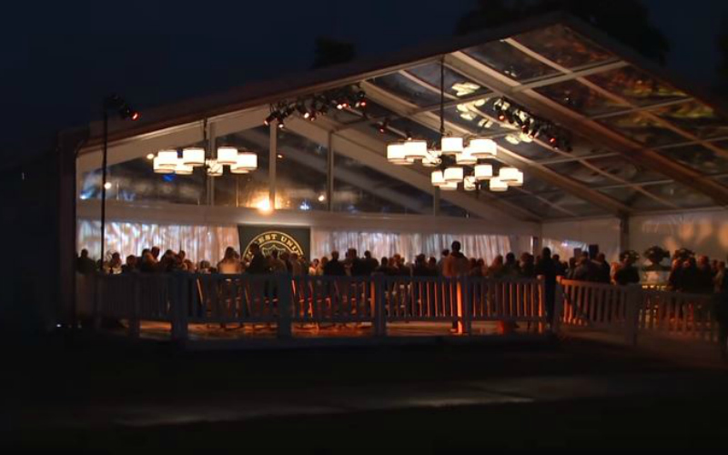 Tent Provides Three Spaces Under One Roof for Wake Forest Fundraiser
